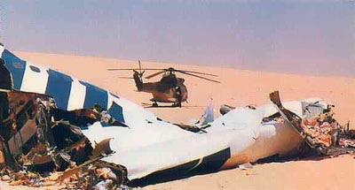 Debris from UTA772 in the Sahara