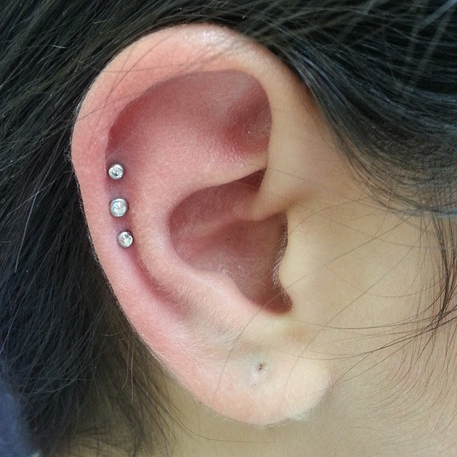 Triple Cartilage Piercing Pain Aftercare Jewelry Body Piercing