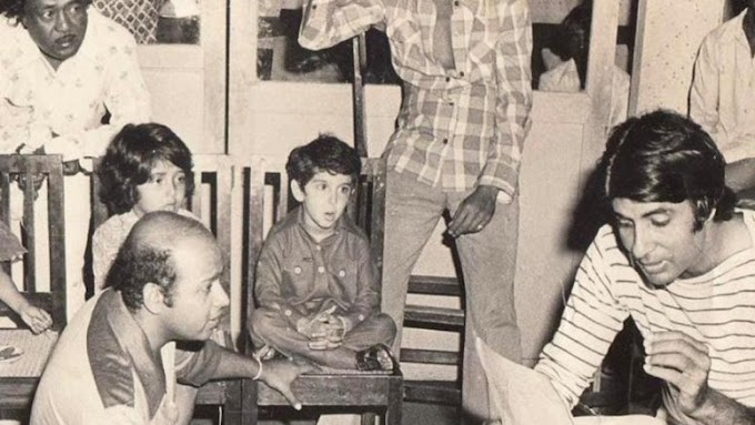 Big B's throwback pic from Mr Natwarlal set with Hrithik as a child