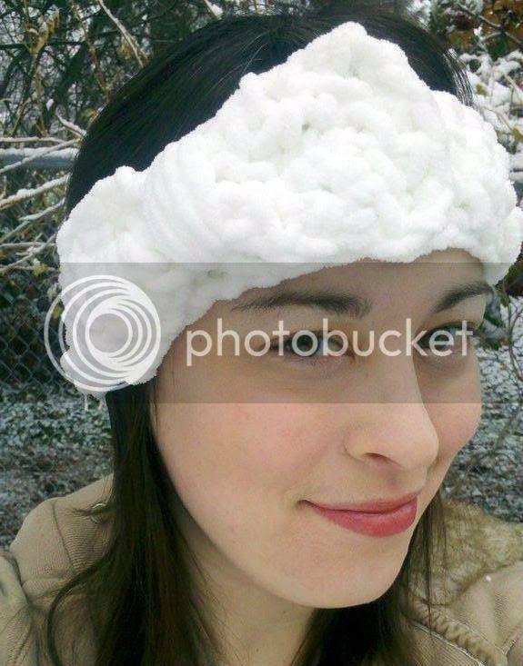 chunky crochet headband with bow
