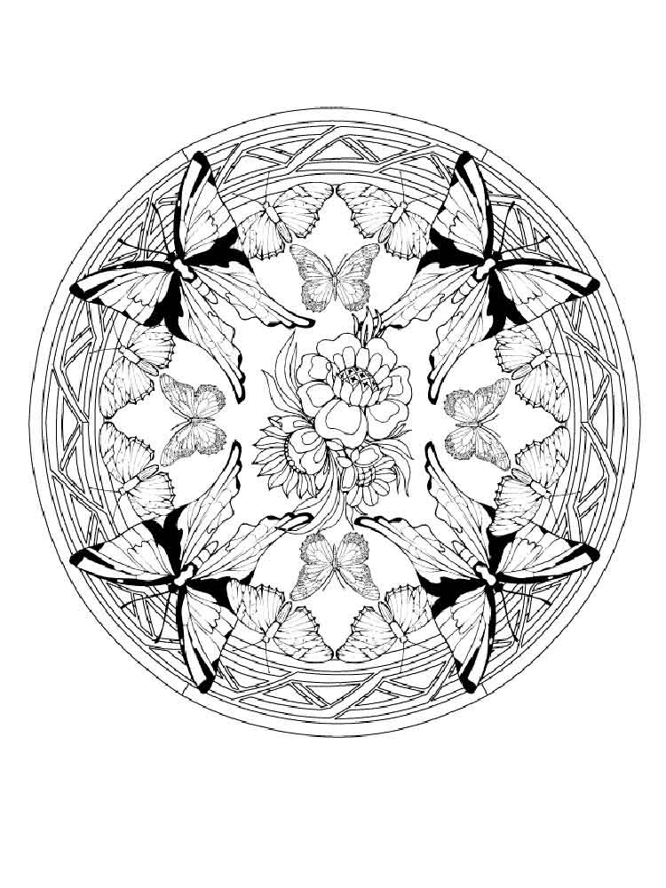 adult animal mandala coloring pages 8