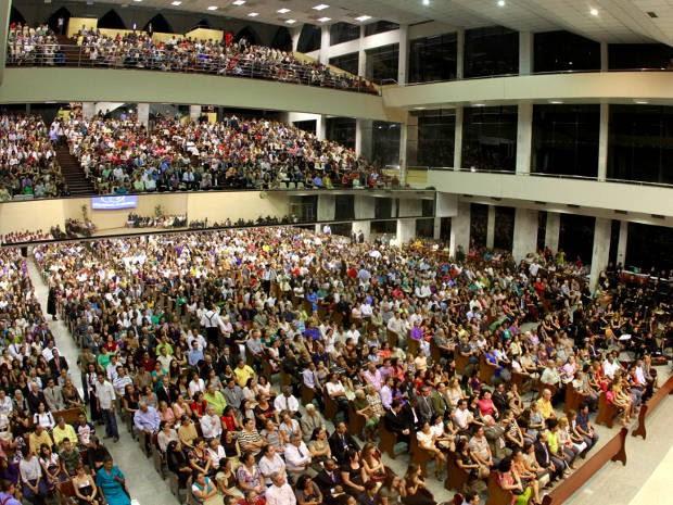 Templo central da Assembleia de Deus, em Belém, realiza cantata natalina. (Foto: Carlos Borges/ O Liberal)