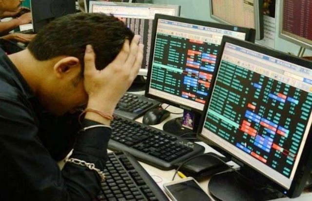 रुपए में आई कमजोरी से शेयर बाजार में गिरावट, सेंसेक्स 173 अंक टूटा
