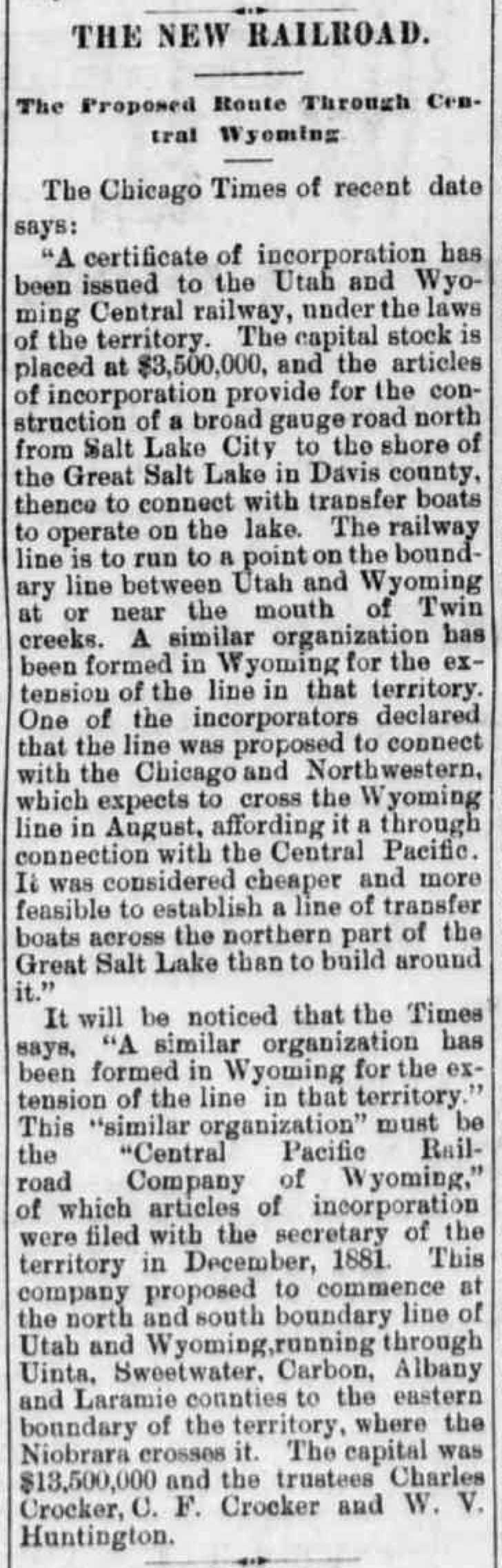 Laramie Boomerang, June 23, 1885