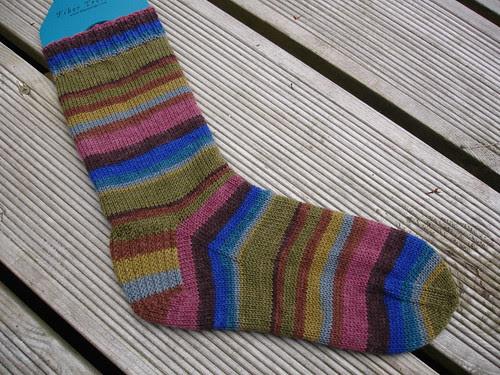 Wolfgang's Stripy Sock WIP