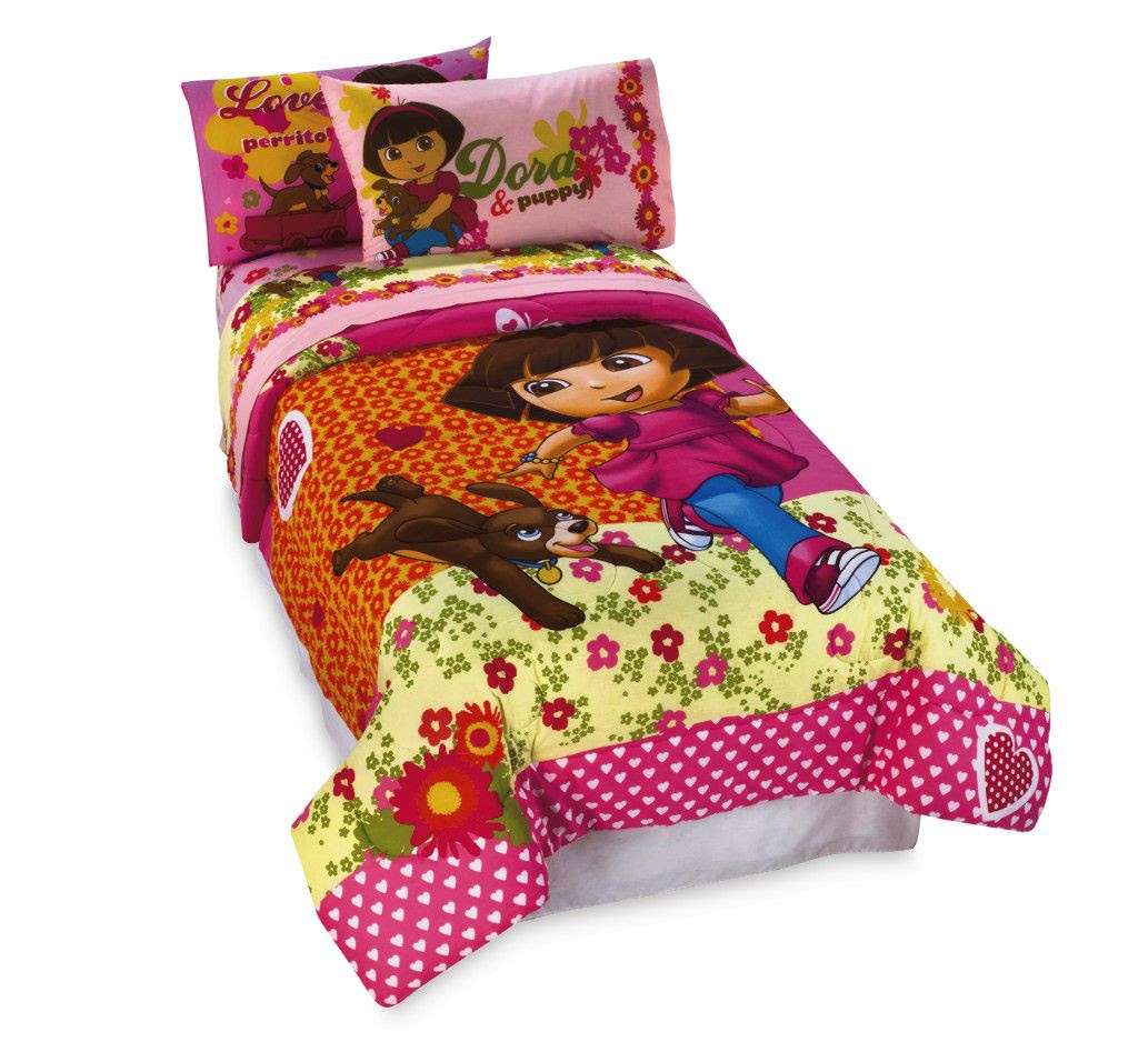 Nickelodeon Dora And Puppy Sheet Set - Bed & Bath - Bedding
