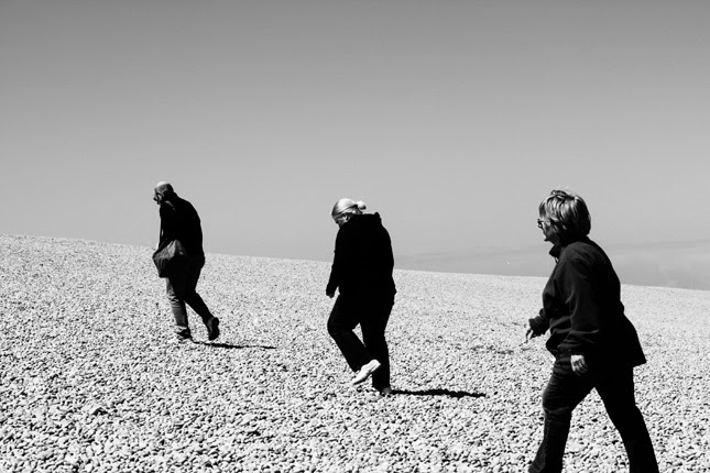 Climbing Chesil Beach