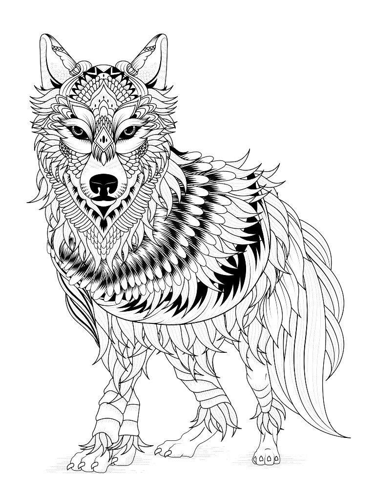 Mandala Wolf Coloring Pages at GetColorings.com | Free ...