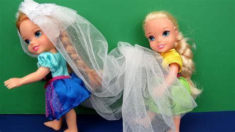 Wedding VEIL problem ! Elsa and Anna toddlers   beautiful