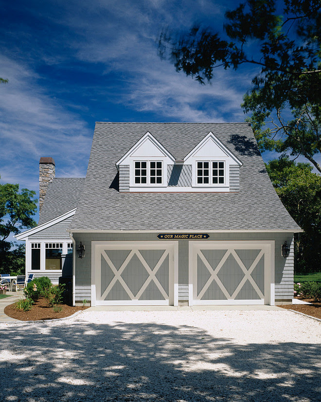 Single home paint color. Stained shingle home paint color. Stained shingle home paint color ideas. The white cedar shingles are stained with Cabot semi-solid Granite #0149. #Shinglehomepaintcolor #StainedShinglehomepaintcolor Polhemus Savery DaSilva