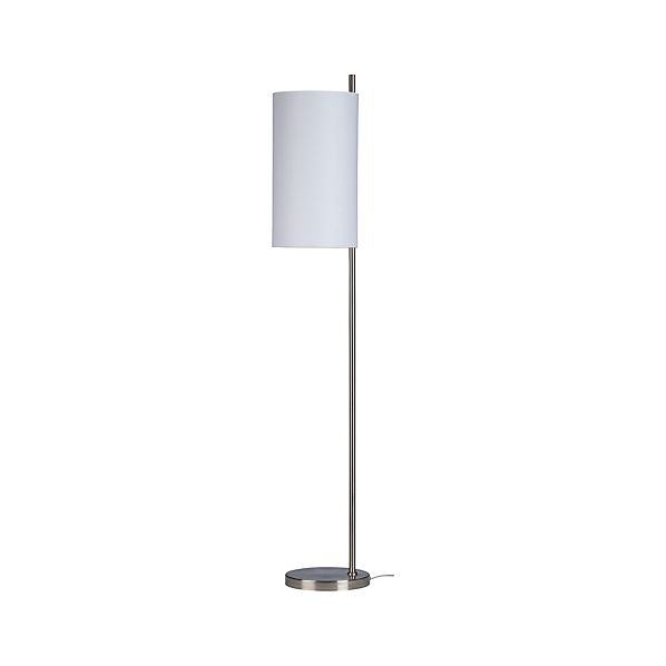 Balance Nickel Floor Lamp in Outlet Lighting | Crate and Barrel