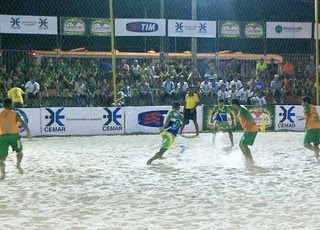 Campeonato Maranhense de futebol de areia - na Raposa (Foto: Divulgação/Federação Maranhense de Beach Soccer)