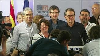 """Homs, Puigdemont i Mas en la valoració dels resultats del """"superdissabte"""""""