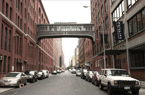 Between buildings, West Side