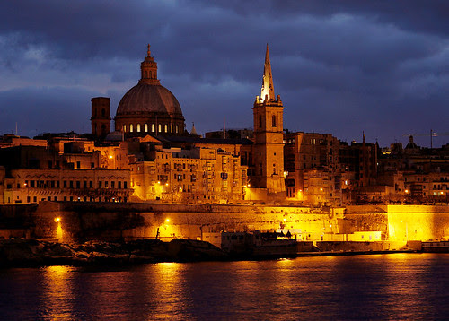 Valletta under evening clouds