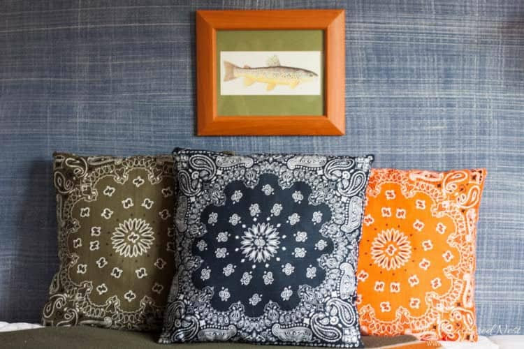 DIY dollar store bandana pillows heatherednest.com-9