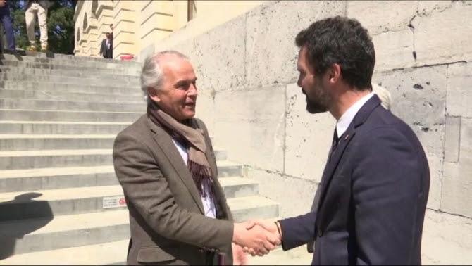 L'alcalde de Ginebra, Rémy Pagani, rep Roger Torrent