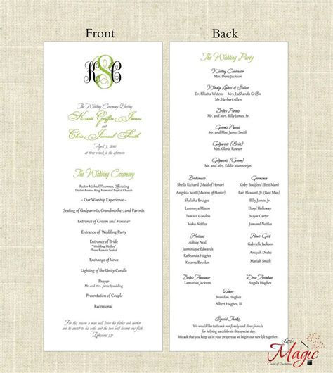 25  best ideas about Wedding programs simple on Pinterest