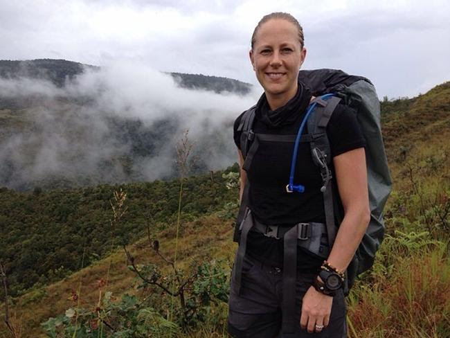 Trek leader, Australian woman Christi King