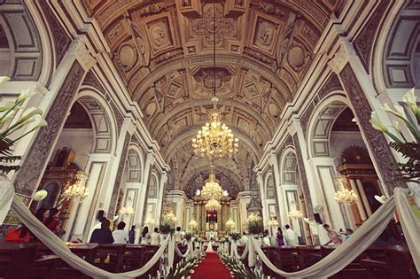 The Antique Baroque Charm of San Agustin Church   Weddings
