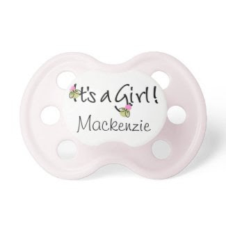Personalized Pink It's a Girl Baby Pacifier