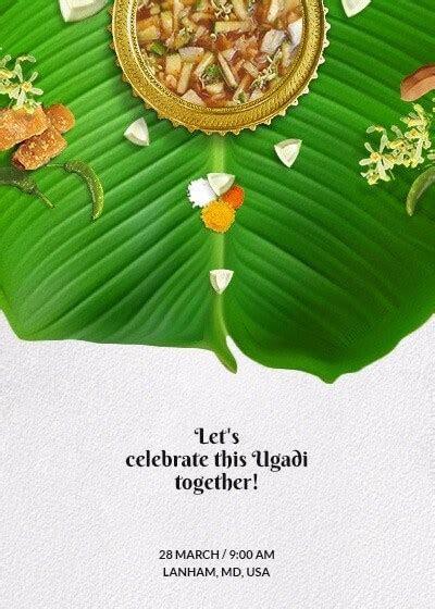 Ugadi   Flavors Of Life Invitation   Invites