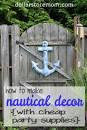 Nautical Decor from Cheap Party Supplies | Dollar Store Mom Frugal ...