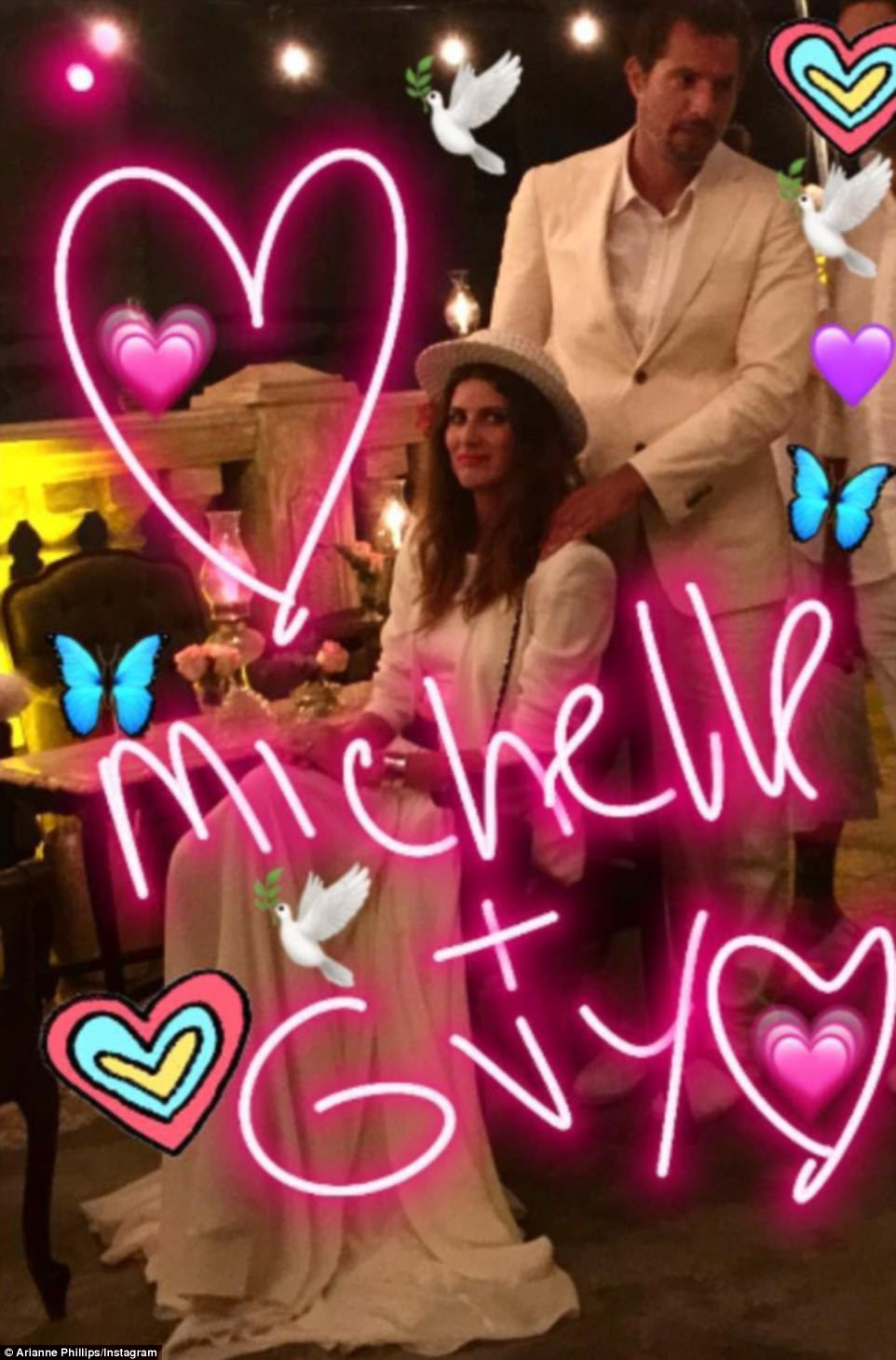 They do! Talent manager Guy Oseary tied the knot with wife Michelle Alves renewed their vows today (pictured)