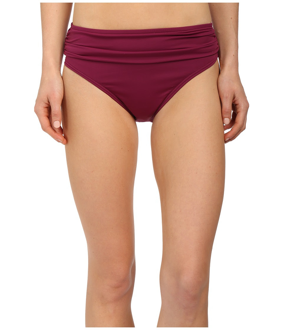 Tommy Bahama - Pearl Solids High Waist Sash Pants (Magenta) Women's Swimwear