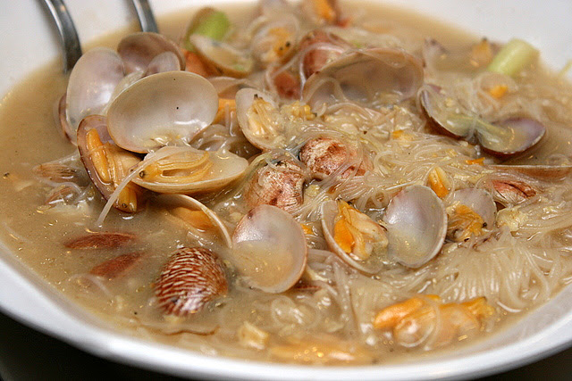 Fried Bee Hoon in Lala Soup