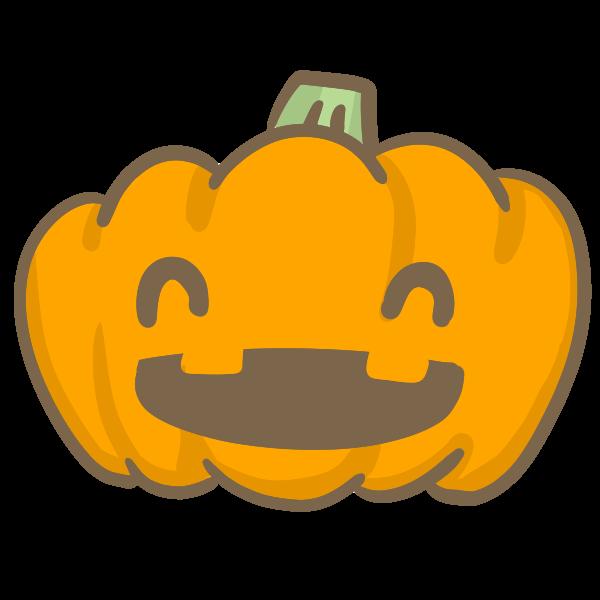 おばけかぼちゃにっこりのイラスト かわいいフリー素材が無料の