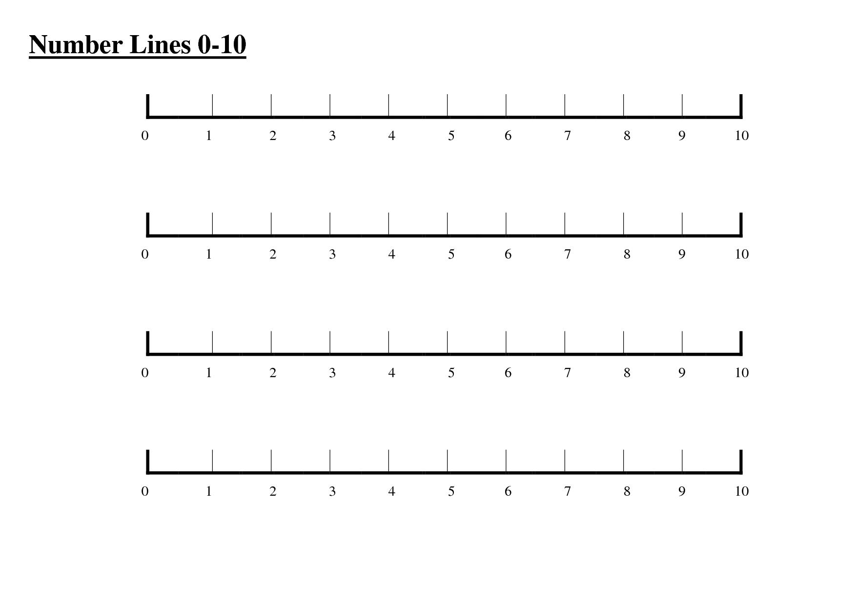 Worksheet. 1 To 10 Number Line. Mikyu Free Worksheet