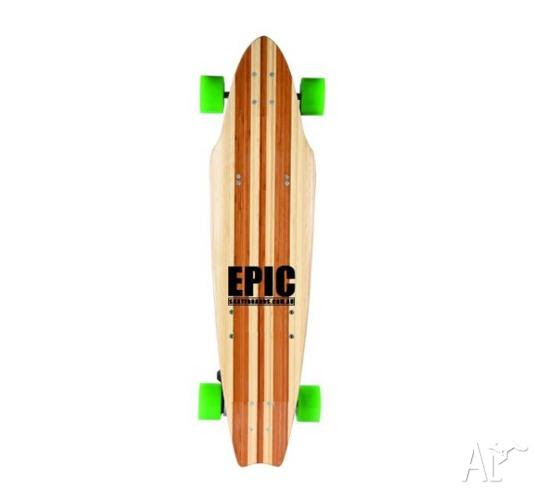 New Epic Electric Skateboard, with speedometer \u0026 brushless motor for Sale in BENOWA, Queensland