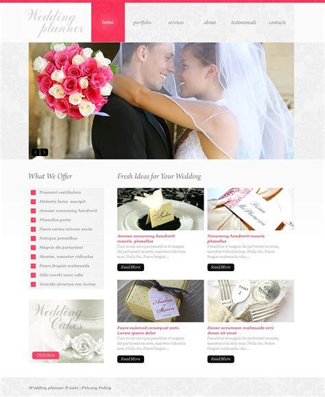 Wedding Planner PSD Template #37054