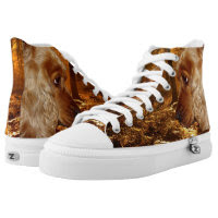 Dog Zipz High Top Sneakers, Printed Shoes Printed Printed Shoes