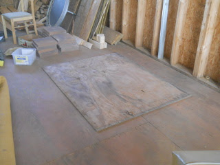 Stove Step Stone Plywood in Place