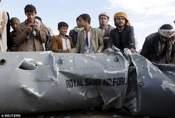 Supone restos de los aviones F-15C Arabia (Foto: Reuters)