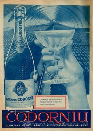 Publicidad Original *CODORNIU. EXTRA RAVENTÓS CODORNIU* · S. Sadurní de Noya · Año 1958