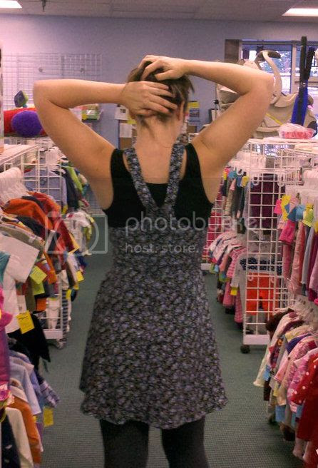 Refashioning a thrift store dress for women