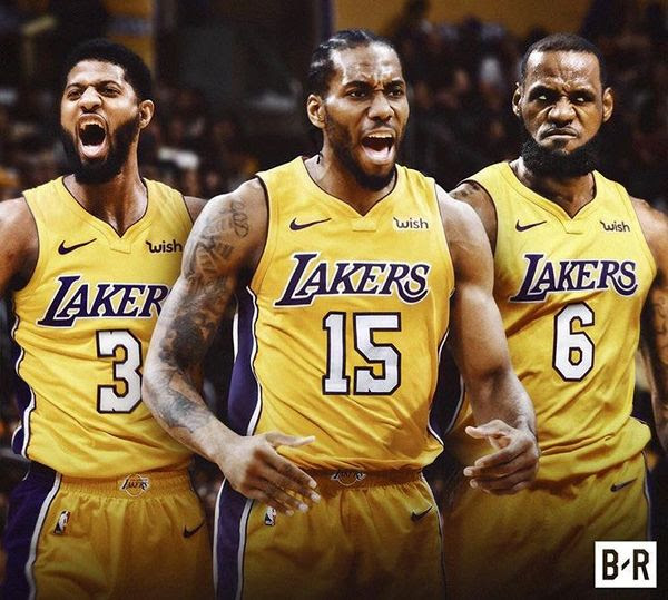 Paul George, Kawhi Leonard AND LeBron James playing on the Los Angeles Lakers?? Make it happen!!