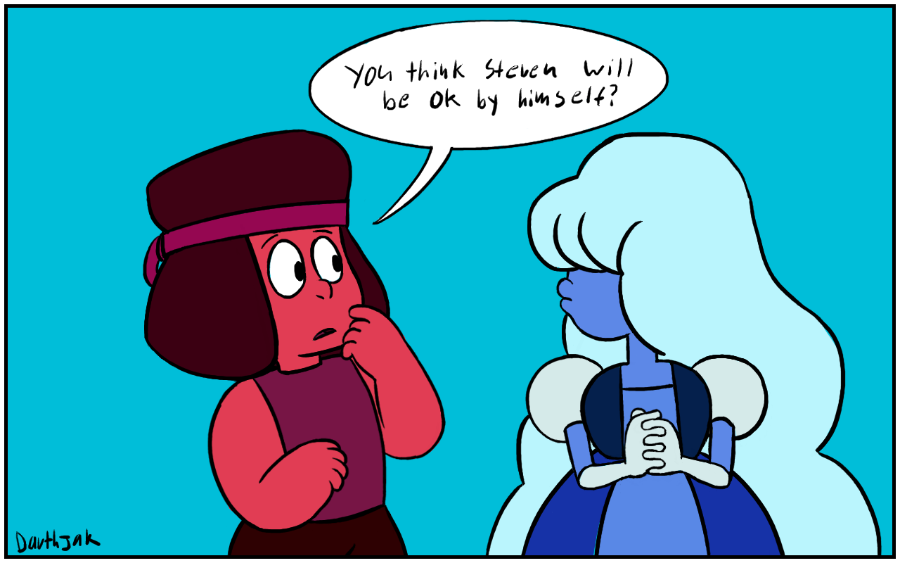Sapphire uses her gem abilities to see the future!