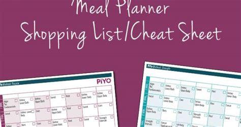 piyo printable worksheets piyo strength calendar
