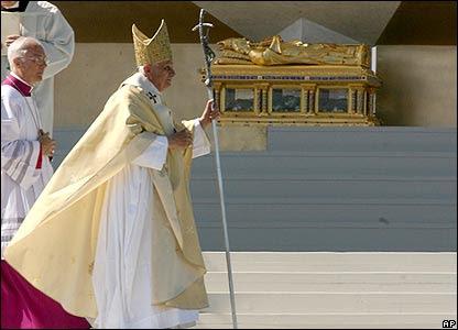 Pope Benedict in Regensburg, Germany, on 12 September