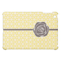 Vintage Floral & Rose {yellow} iPad Mini Covers