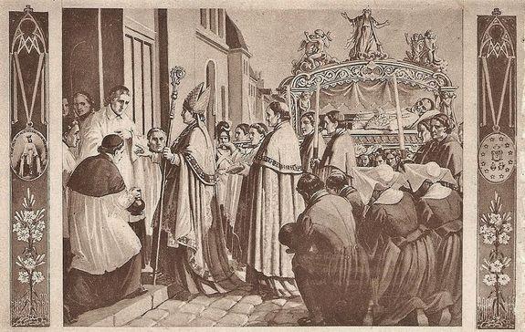 translation du corps de St Vincent de Paul 25 avril 1830