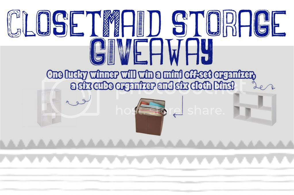 Enter the Ultimate Closetmaid Storage Giveaway. Ends 5/10.