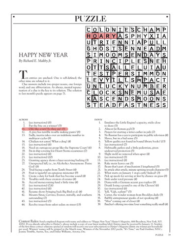 January 2013 - Harpers Cryptic