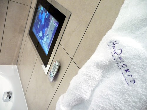 telly in the bathroom