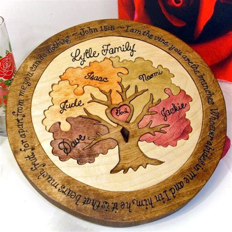 Custom Designed Family Tree Unity Ceremony Wedding Puzzle