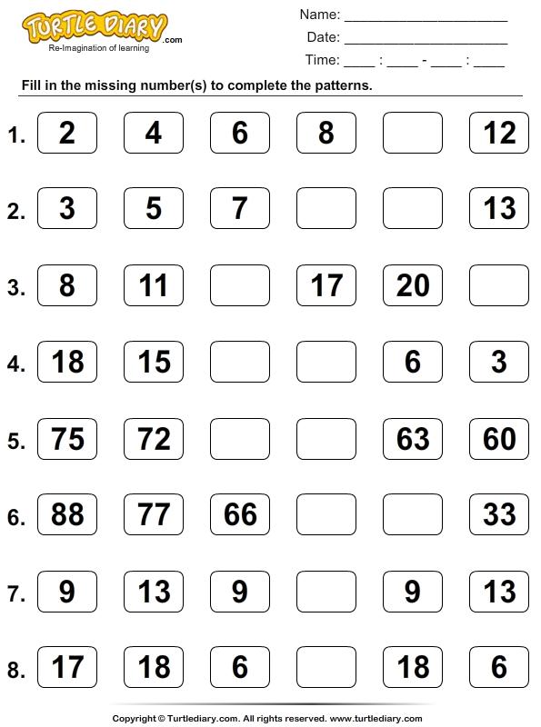skip counting 1
